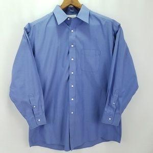 Roundtree & Yorke Gold Label Blue Dress Shirt